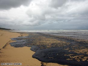 Large stretches of Queensland's coastline are being affected by the oil.